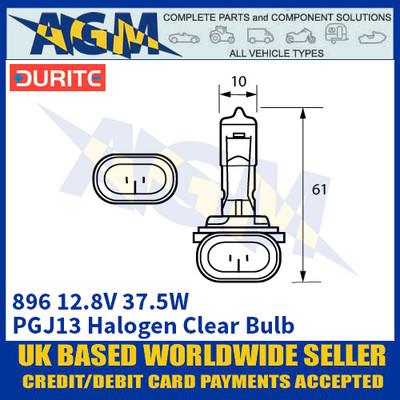 Durite 7-008-96 896 12.8 Volt 37.5 Watt Halogen Clear Bulb