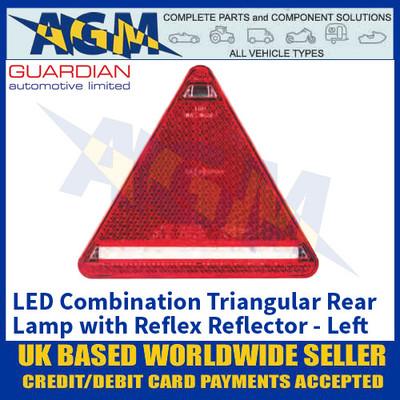Guardian Automotive 'LEFT' LED Combination Triangular Rear Lamp with Reflex Reflector - 12/24V