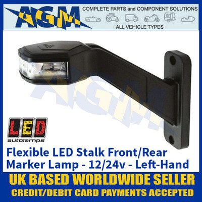 LED Autolamps 'LEFT-HAND-SIDE' Flexible Stalk Front/Rear Marker Lamp - 12/24V