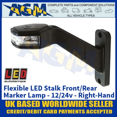 LED Autolamps 'RIGHT-HAND-SIDE' Flexible Stalk Front/Rear Marker Lamp - 12/24V