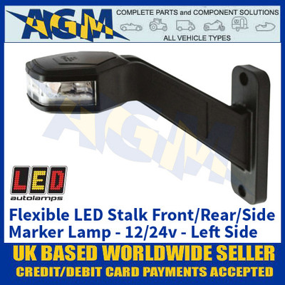 LED Autolamps 'LEFT-HAND-SIDE' Flexible Stalk Front/Rear/Side Marker Lamp - 12/24V