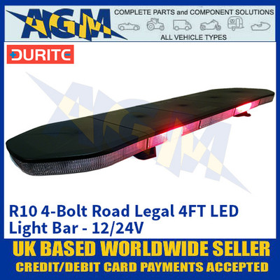 Durite 0-443-51 R10 4-Bolt Road Legal 4FT LED Light Bar - 12/24V