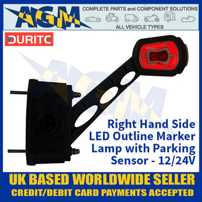 Durite 0-172-80 Right Hand LED Outline Marker Lamp with Parking Sensor - 12/24v