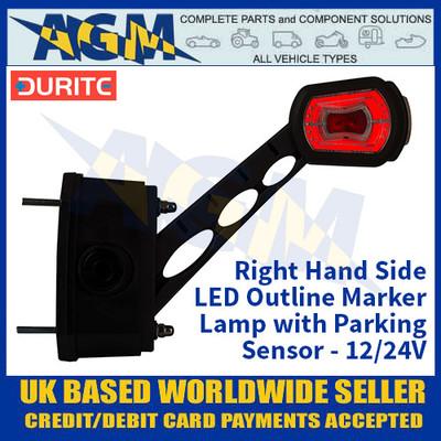 Durite 0-172-80 Right Hand LED Outline Marker Lamp with Parking Sensor - 12/24v