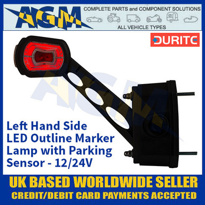 Durite 0-172-81 Left Hand LED Outline Marker Lamp with Parking Sensor - 12/24v