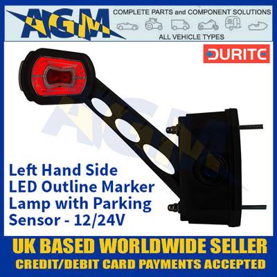 Durite 0-172-81 Left Hand LED Outline Marker Lamp with Parking Sensor - 12/24v