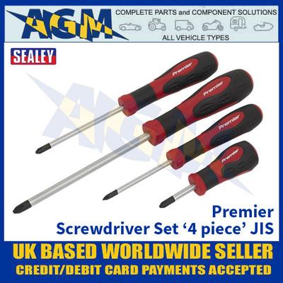 Sealey AK4314 Premier Range Screwdriver Set '4 Piece' JIS