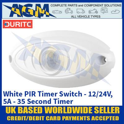 Durite 0-743-23 White PIR Timer Switch - 12/24V, 5