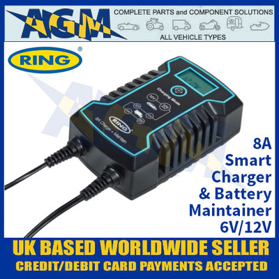 Ring Automotive RCS808 8A Smart Charger and Battery Maintainer