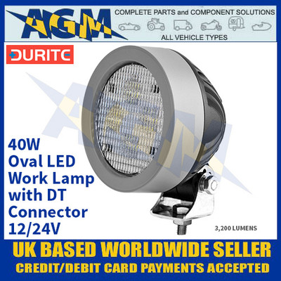 Durite 0-420-33 40W Oval LED Work Lamp With DT Connector - 12/24V