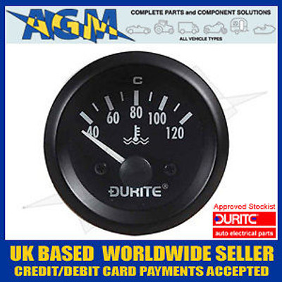 Durite 0-523-23 Marine Style 12v Water Temperature Guage with Sender