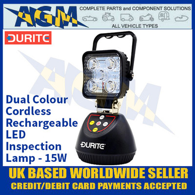 Durite 0-541-31 Dual Colour Cordless Rechargeable LED Inspection Lamp - 15W