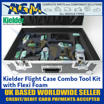 Kielder KWT-008-CPKF7 Flight Case Combo Tool Kit with Flexi Foam