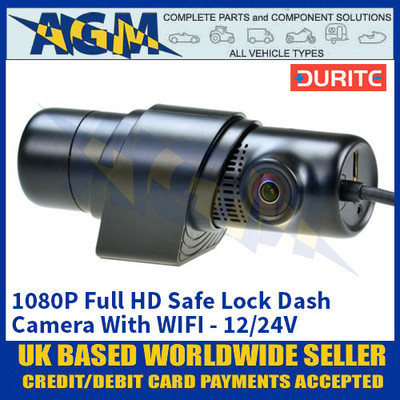 Durite 0-775-70 1080P Full HD Safe Lock Dash Camera With WIFI - 12/24V