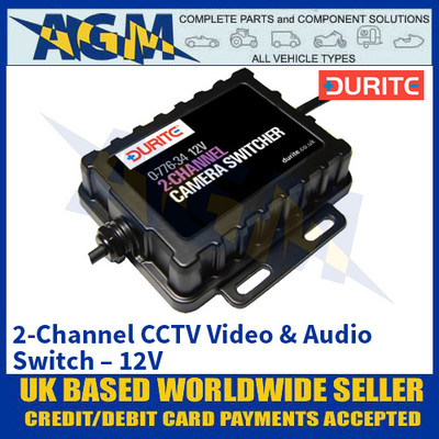 Durite 0-776-34 2-Channel CCTV Video & Audio Switch – 12V