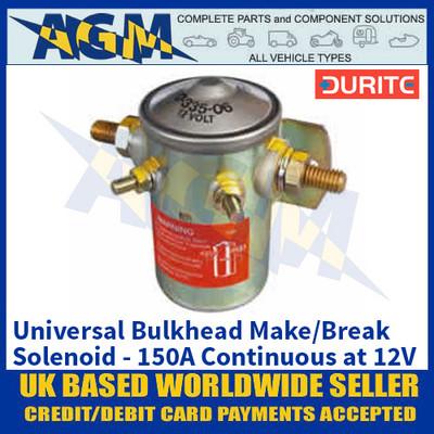 Durite 0-335-06 Bulkhead Make/Break Solenoid - 150A Continuous at 12V