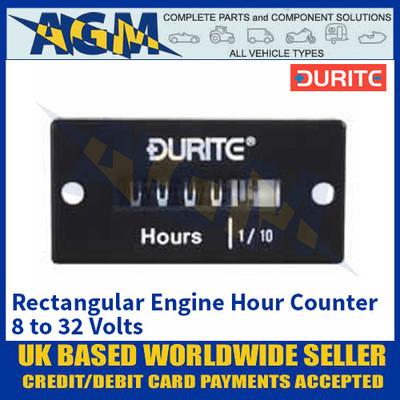 Durite 0-523-58 Rectangular Engine Hour Counter 8 - 32V