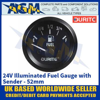 Durite 0-523-56 24V Illuminated Fuel Gauge with Sender - 52mm