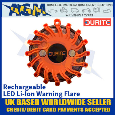 Durite 0-446-61 Rechargeable LED Li-Ion Warning Flare