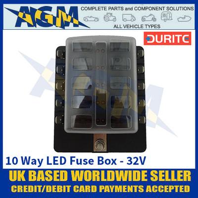 Durite 0-234-50 10 Way LED Fuse Box - 32V