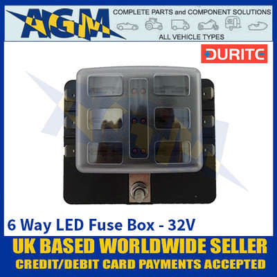 Durite 0-234-56 6 Way LED Fuse Box - 32V