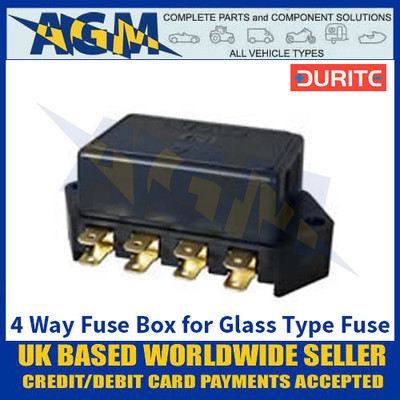 Durite 0-237-07 4 Way Fuse Box for 29mm Glass Type Fuse