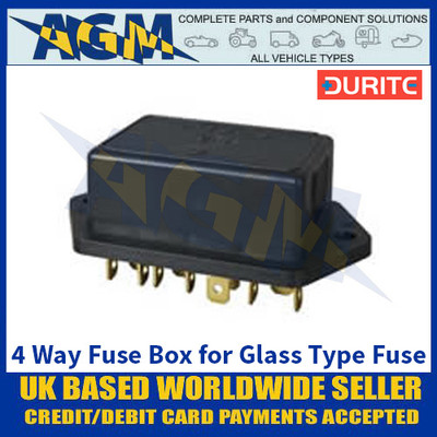 Durite 0-237-06 4 Way Fuse Box for Glass Type Fuse