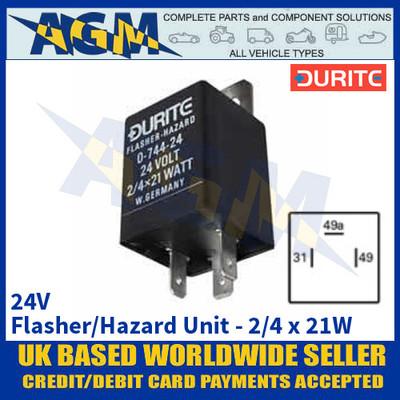 Durite 0-744-24 24V 2/4 x 21W Flasher/Hazard Unit
