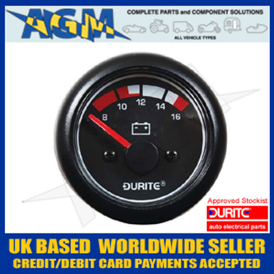 Durite 0-525-22 Marine Style 12v Battery Condition Gauge - Voltmeter