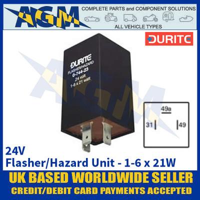 Durite 0-744-23 24V 1-6 x 21W Flasher/Hazard Unit