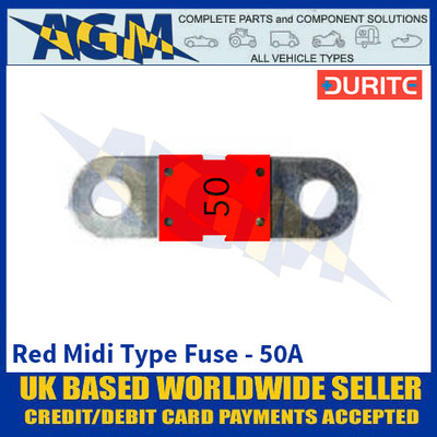 Durite 0-378-15 Red Midi Type Fuse - 50A