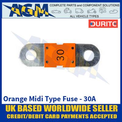 Durite 0-378-13 Orange Midi Type Fuse - 30A