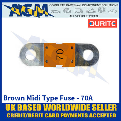 Durite 0-378-17 Brown Midi Type Fuse - 70A