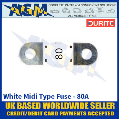 Durite 0-378-18 White Midi Type Fuse - 80A