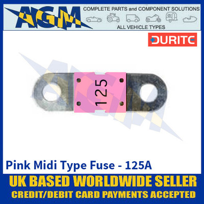 Durite 0-378-22 Pink Midi Type Fuse - 125A
