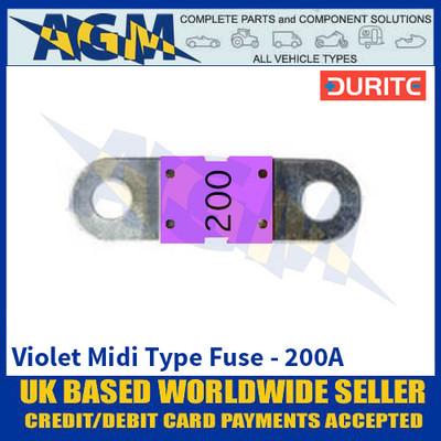Durite 0-378-33 Violet Midi Type Fuse - 200A