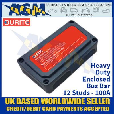 Durite 0-005-59 Heavy Duty Enclosed Bus Bar - 12 Studs - 100A