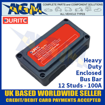 Durite 0-005-59 Heavy Duty Enclosed Bus Bar - 12 Studs - 100A