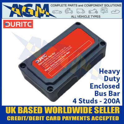 Durite 0-005-60 Heavy Duty Enclosed Bus Bar - 4 Studs - 200A