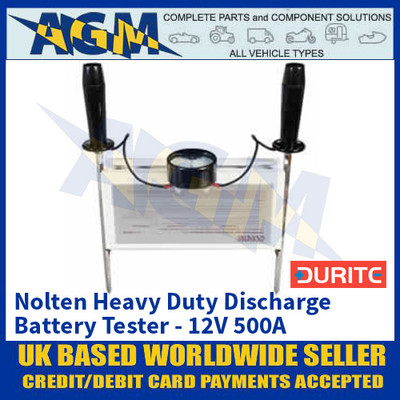 Durite 0-524-50 Nolten Heavy Duty Discharge Battery Tester - 12V 500A