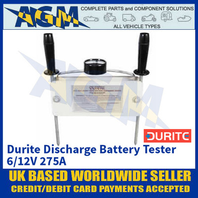 Durite 0-524-08 Durite Discharge Battery Tester - 6/12V 275A