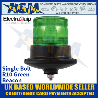 Electraquip EQPR10GBM-SB Single Bolt R10 LED GREEN Beacon