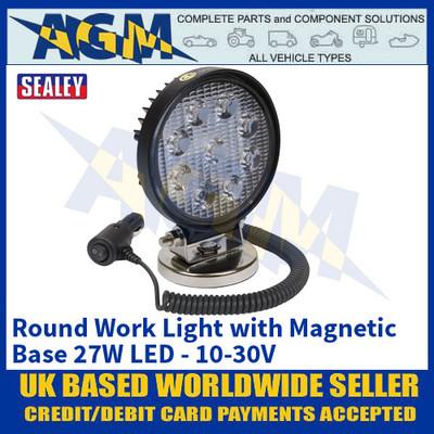 Sealey LED3RM Round Work Light with Magnetic Base 27W LED