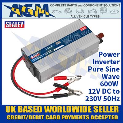 PSI600 Power Inverter Pure Sine Wave 600W 12V DC - 230V 50Hz