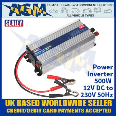 Sealey PI500 Power Inverter 500W 12V DC - 230V 50Hz