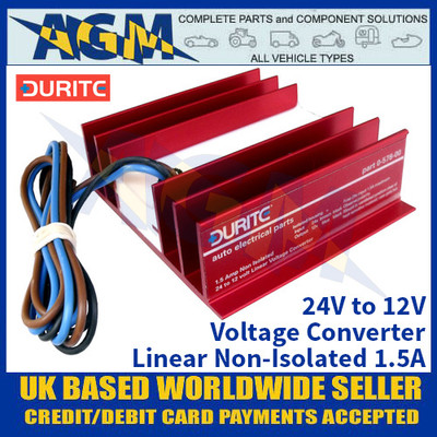 Durite 0-578-00 24V to 12V Voltage Converter - Linear Non-Isolated 1.5A