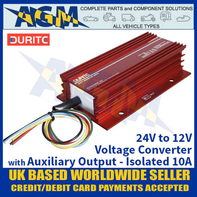 Durite 0-578-60 24V to 12V Voltage Converter with Auxiliary Output - Isolated 10A