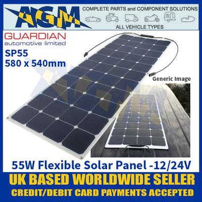 Guardian Automotive SP55 Flexible Solar Panel, 580 x 540mm, 12/24V