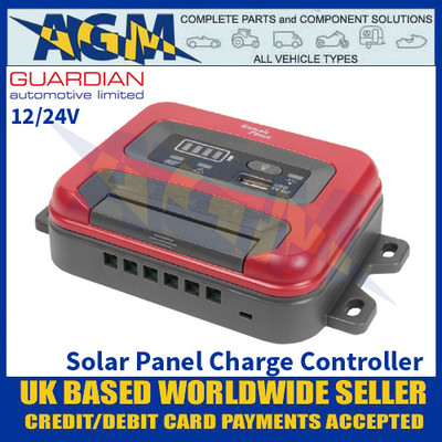 Guardian Automotive PWM10 Solar Panel Charge Controller, 12/24V