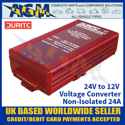 Durite 0-578-24 24V to 12V Voltage Converter - Non-Isolated 24A